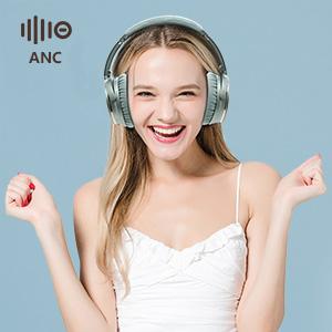 Plegable Auriculares Inalámbricos con Cancelación de Ruido Bluetooth