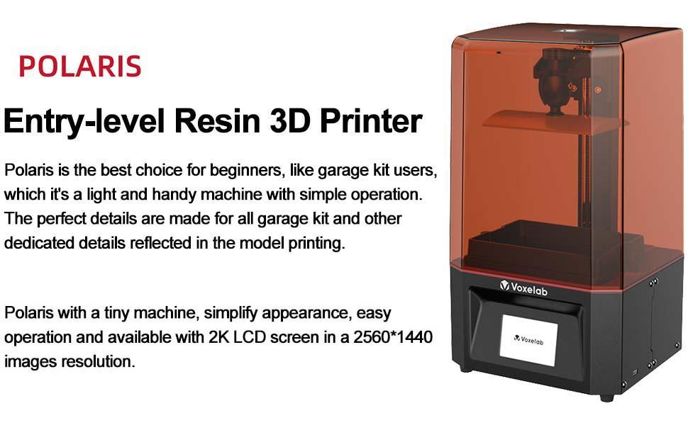 Entry level resin 3d printer
