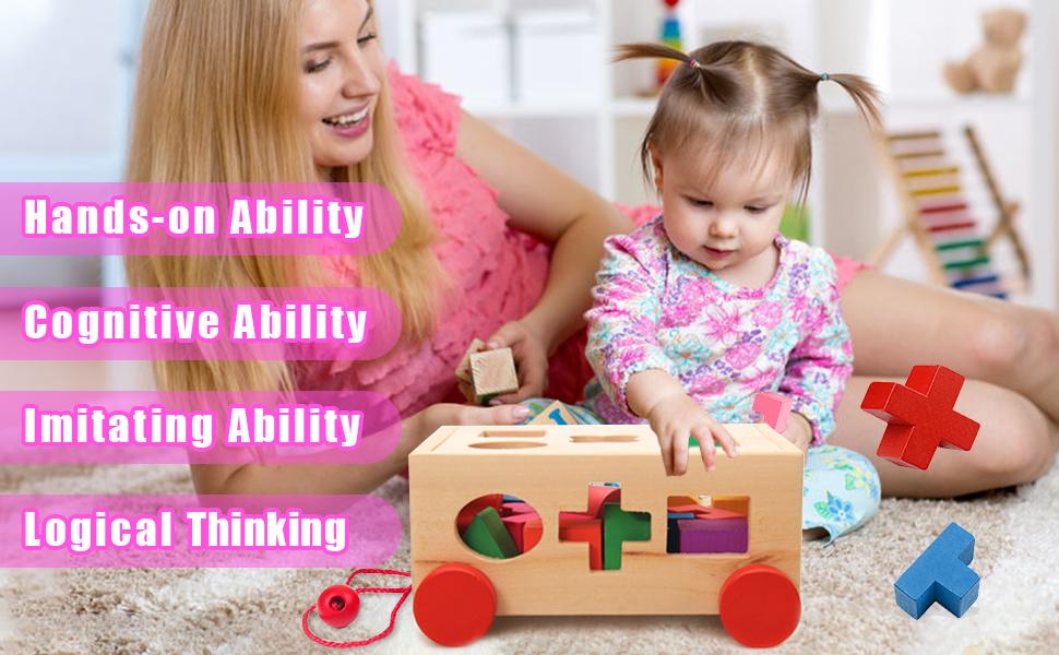 Caja intelectual educación infantil juguetes de madera