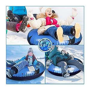 snow tube sled