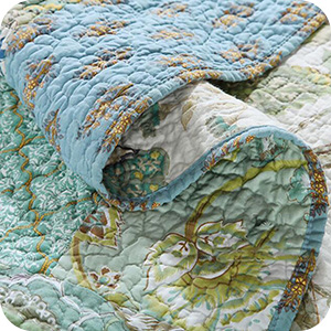Aqua Floral Boho Pattern
