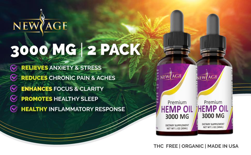 hemp oil 3000mg pain relief anxiety sleep boost mood energy