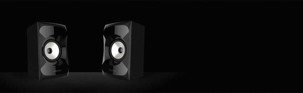 both left and right speaker satellites of Creative SBS E2900 2.1 speaker system
