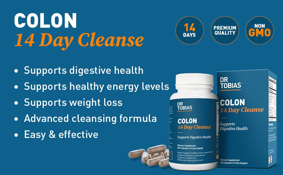 Dr, Tobias, colon, cleanse, 14 day, digestive health, weight loss, detox, health, cleansing