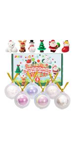Christmas Bath Bombs with Toys Inside