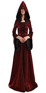 MEDIEVAL WICCA HOODED  DRESS