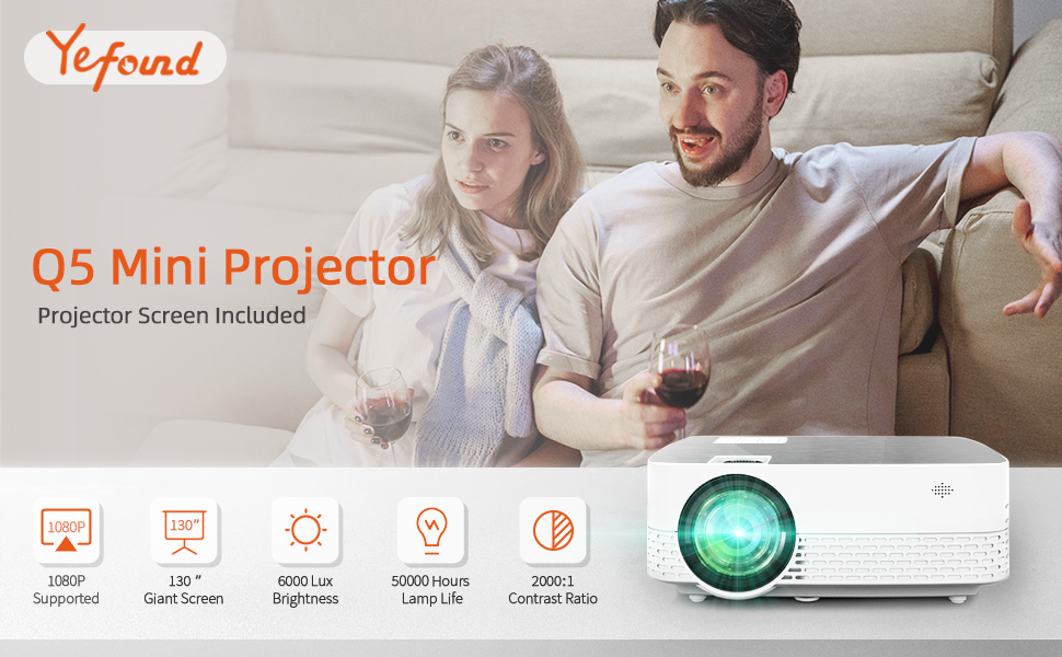 Yefound Q5 Projector brightness to meet customers needs