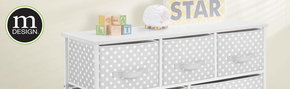 baby little kid child children woman man mom decorative print dresser closet bin basket box rack