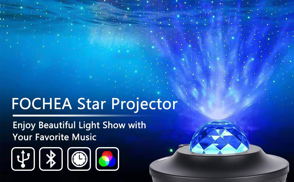 Projecteur Étoiles Rotatif
