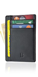 schermato moero bewmer slim uomo tascabile compatto tessere carte credito rfid nero black carbon