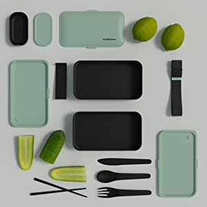 lunch box cutlery divider top view