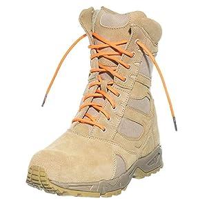 boot shoelace orange