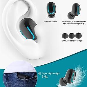 Funciones de bot/ón F9 TWS Mini Bluetooth 5.0 Chip de Doble Oreja t/áctil Deportes est/éreo 6D Altavoz de Sonido Envolvente Auriculares inal/ámbricos