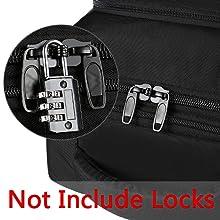 Lockable Double Metal Zipper