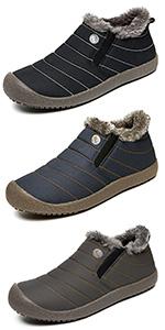 Stivali da Neve Uomo Donna Inverno Scarpe Trekking Scarpe Caldi Snow Boots Impermeabili Stivaletti