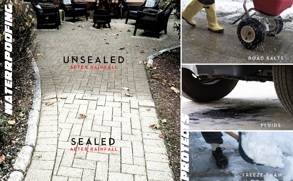 concrete sealer, garage sealer, salt, road ice, oil, freeze-thaw, best concrete sealer, RadonSeal