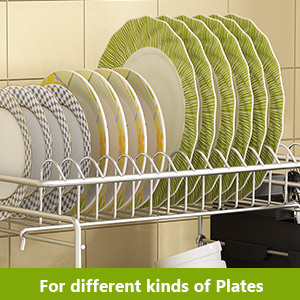 older and Dish Drainer for Kitchen Counter Neat-O Deluxe Chrome-Plated Steel Small Dish Drainers