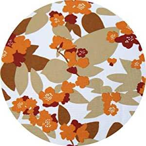 Deconovo Water Resistant White Back Rectangle Tablerunner with Orange Blossoms of Flowers Kitchen