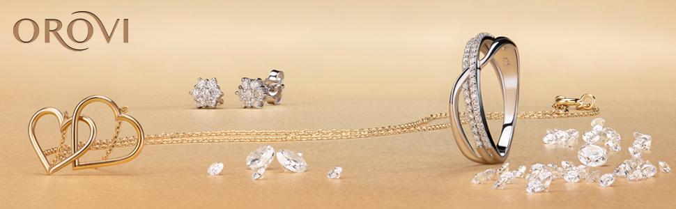 colgante infinito con cadena anillo de oro anillo de zirconia cúbica con anillo zafiro topacio azul