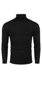 COOFANDY Men's Slim Fit Turtleneck Sweater