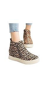 leopard wedge platform sneakers