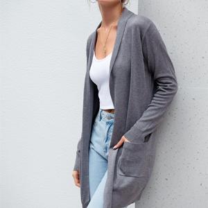 gray cardigan for women