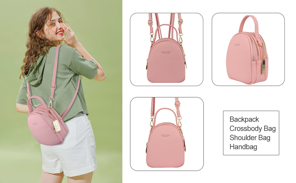 Cute Mini Backpack Purse for Women, Travel Shoulder Bag Crossbody Cell Phone Bags