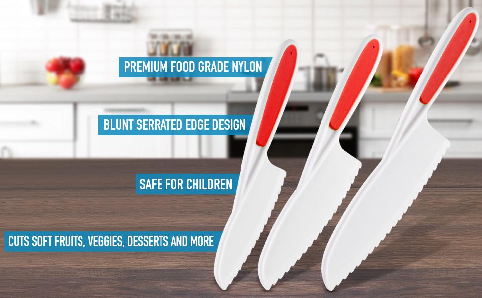 zulay kitchen logo safety knife set for kids