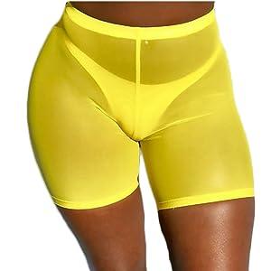 269da04ff4ecf1 FULA-bao Sexy Women See Through Sheer Swimsuit Cover Up Short Pants Bikini  Bottom Cover-up Pants