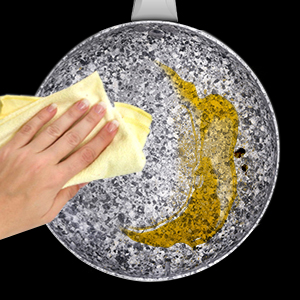 nonstick frying pans 8 inch with stone-derived coating