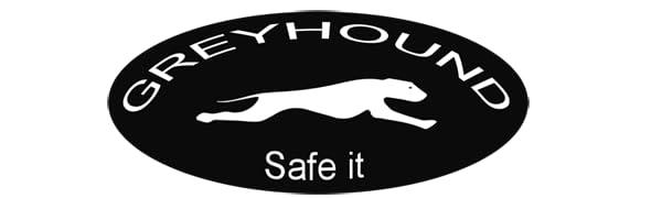 Greyhound Safe it, Sicherheitsgeschirr, gepolstert, Logo