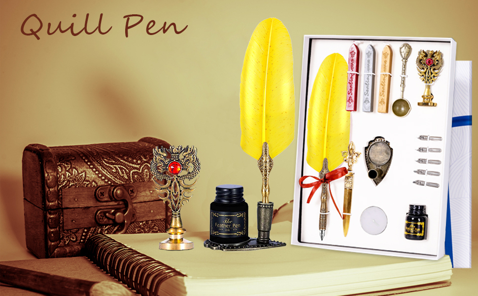 Feather Pen Set Quill Pens