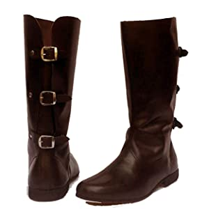 leather viking boots