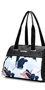 vooray trainer tote duffel gym bag sport handbag purse water towel athletic training shoe premium