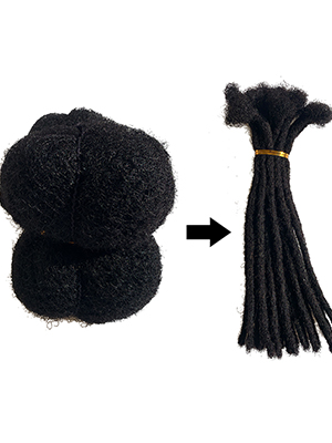 we use afro hair to make dreadlcosk