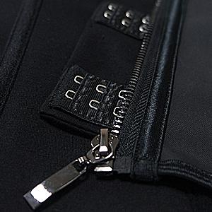adjustable hooks and smooth metal zipper