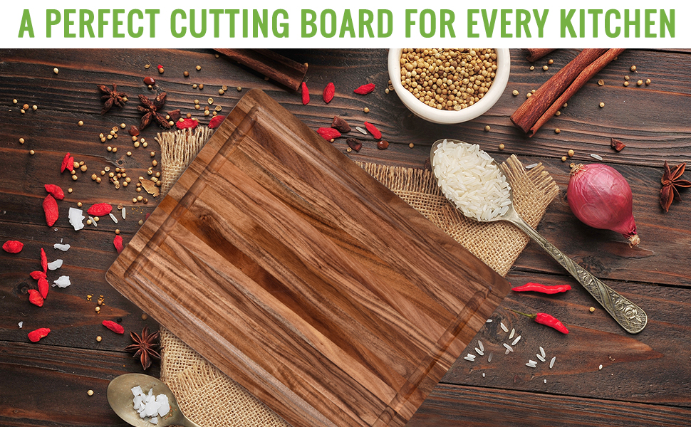 Wooden cutting board for kitchen