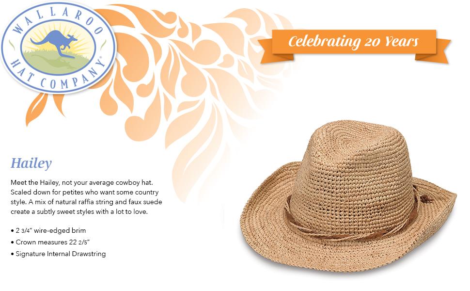 UPF50+ Sun Protection Mushroom One Size - Adjustable Wallaroo Womens Hailey Sun Hat