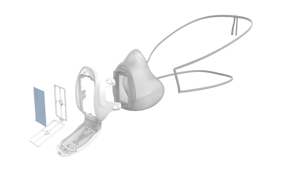 Gill Mask, Face Mask, Reusable Respirator,
