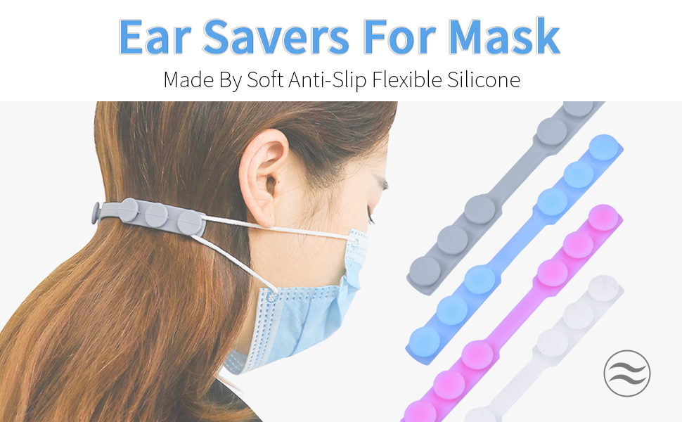 GLORYSHOP Silicone Mask Strap Extender Anti-Tightening Adjustable Mask Holder Hook Mask Ear Protector Colour Random Extension Buckle