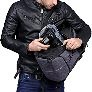 Beschoi - Mochila Fotografía para Cámara Réflex Nikon Canon Sony ...