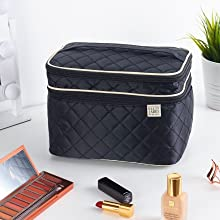 soft train case, make up kaboodle bag, cosmetiqueras bag, large makeup case, cosmetic bags for women