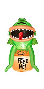 Inflatables Piranha with Pumpkin