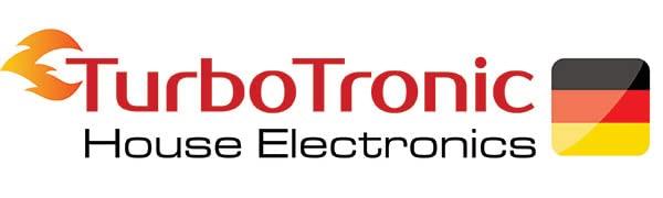 TurboTronic House Electronics, bannière, logo d'entreprise, logo de la marque.