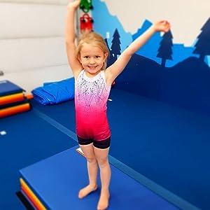Girls Gymnastic Leotard Shiny Diamond with shorts