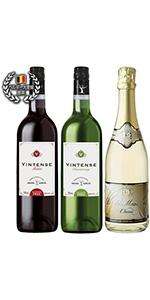 【ノンアルコール ワイン】泡赤白750ml3本セット デュク・ドゥ・モンターニュ(泡),ヴィンテンス・メルロー(赤)&ヴィンテンス・シャルドネ(白)