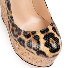 leopard high heel