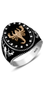Silver Ring with Scorpion Motifs