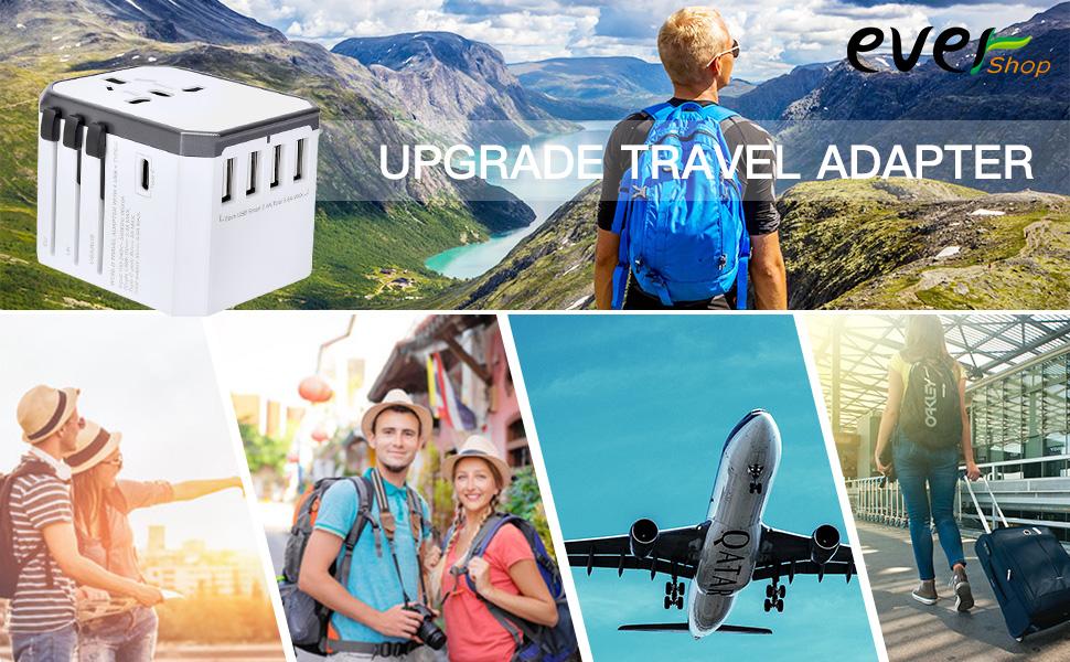 Evershop Worldwide Universal Travel Adapter