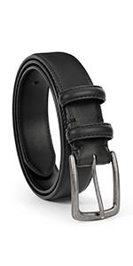 men black real leather dress belt